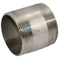 "New 2"" Male x 2"" Male 304 Stainless Steel threaded Pipe Fitting NPT"