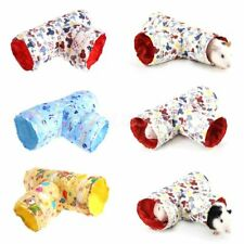 Small Animal Hamster Toy Tunnel 2 Design Cartoon Print Bed For Squirrel Hedgehog