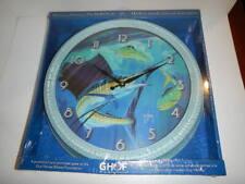 "Guy Harvey 15"" Wall Clock, NEW, Sailfish,  Distressed Tin frame"