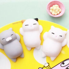 Kawaii Cat Squishy Healing Squeeze Kid Toys Adult Stress Relief Cellphone Charm
