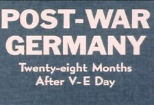 Post War Germany Vintage After WW2 Destruction Family Life Documenteries DVD