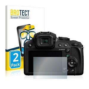 Schutzfolie Transparent für Panasonic Lumix DC-FZ82 Klar Displayschutzfolie 2x