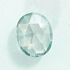 Blue Oval Rose Cut 4 Ring/pendant Loose Moissanite 2.82Ct 9.50x8.12 mm Vvs Light