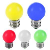 1X(E27 LED Weiss Licht Kunststoff Lampe Birne(0.5W Leistung,Weiss) N9T3)