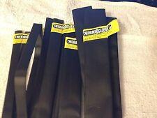 Lot of NOS Thermosleeve Black Polyolefin Heat Shrink Tubing, 4 sizes 4 feet ea