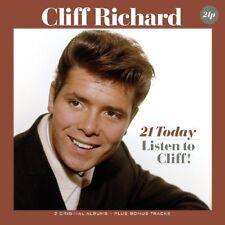 CLIFF RICHARD - 21 TODAY/LISTEN TO CLIFF!  2 VINYL LP NEW!