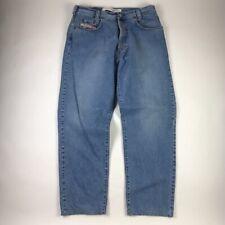 Diesel Mens Saddle Jeans Blue Flat Front Pockets Zipper 100% Cotton Denim 36