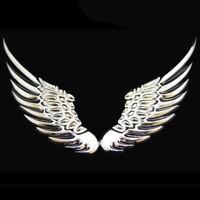 Flügel 3D Chrom 2x Aufkleber Sticker Wings Auto Motorrad Silber Federn Emblem