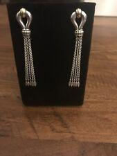 Lagos Women's Derby Tassel Drop Earrings in Sterling Silver & 18K Gold, NEW