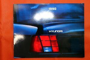 1990 Hyundai Excel and Sonata 12-page Original Car Sales Brochure Catalog