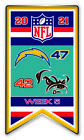 2021 WEEK 5 BANNER PIN NFL SAN DIEGO CHARGERS VS. CLEVELAND BROWNS SUPER BOWL