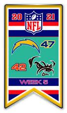 2021 Semaine 5 Bannière Broche NFL San Diego Vs.Cleveland Browns Super Bol