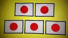 5 Lot Vintage 1970's Japanese Japan Flag Martial Arts Embroidered Jacket Patches