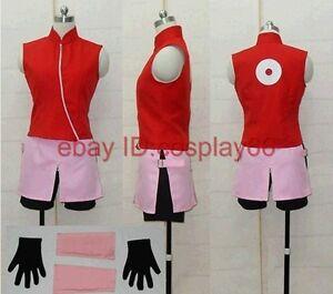 Naruto Haruno Sakura Cosplay Costume Any Size
