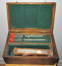 ANTIQUE RARE LIQUOR SPIRITS GLASS HYDROMETER AMERICAN CHICAGO COPPER WOOD SYSTEM