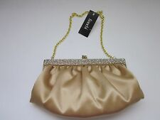 $237 NWD Franchi Handbags/Clutch Evening Linette Gold Small