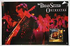"""BRIAN SETZER ORCHESTRA Promo Poster 20""""x30"""" Never Hung STRAY CATS"""