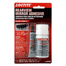 Loctite Auto Rear View Mirror Adhesive, Glue Mirror Button to Windshield Kit