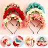Princess Wedding Party Women Flower Headband Beach Headwear Bride Headhoop