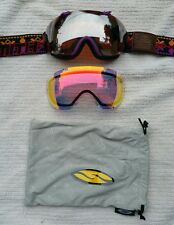 Smith I/OS Snow goggles Mirror and Red iridescent lenses. Bag included, Exc cond