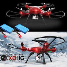 2 Akkus Syma X8HG 8MP HD Kamera Barometer Set Höhe RC Quadcopter Drohne Rot NEU