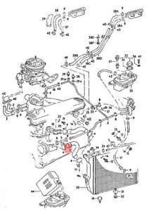 Genuine AUDI 100 Avant quattro 200 5000 Turbo 43 437 Coolant Hose 443121055D