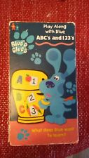 Blues Clues - ABCs and 123s (VHS, 1999) Nick Jr