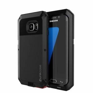Galaxy S7 EDGE Case, PUNKcase Metallic Shockproof [Slim] Metal Armor Case