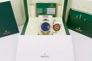 Rolex Datejust 116200 Watch Anniversary Jubilee Dial Box and Papers 2008