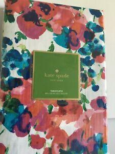 Kate Spade Rosa Terrace Tablecloth / Runner/ Towels Watercolor Floral NEW U Pick