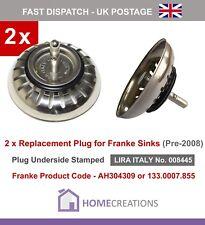 2 x Franke Sink PLUG for Basket Strainer Waste (Old Style)