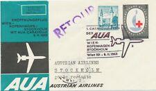 ÖSTERREICH AUA ERSTFLUG CARAVELLE 1963 WIEN - STOCKHOLM (Stempel Nr. 2)