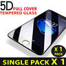 For Apple iPhone6,7,8 Plus Black 100% 5D Gorilla Tempered Glass Screen Protector