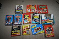 1980s Baseball Card Empty Box Lot Donruss Fleer Topps 1982 1983 1984 1985 - R826