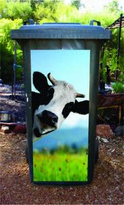 Gday cow wheelie bin sticker