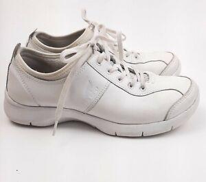 DANSKO Womens Sz 39 Evie White Leather Nurse Shoes Sneakers No Slip Lace Up 8.5