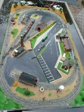 More details for n gauge model railway layout with loco and rolling stock . cars and bus