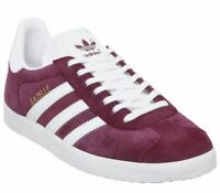Mens Adidas Gazelle Trainers Collegiate Burgundy Trainers Shoes