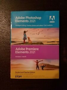 Adobe Photoshop & Premiere Elements 2021~Very Good