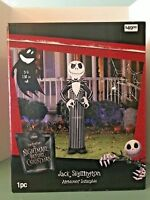 GEMMY JACK SKELLINGTON AIRBLOWN INFLATABLE NIGHTMARE BEFORE CHRISTMAS 5 Ft Tall