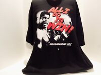 MUHAMMAD ALI (ALL I DO IS WIN)  T-SHIRT(2XL) BLACK- KEN REGAN.-BOXING