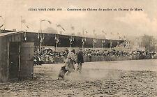 PARIS CHAMP DE MARS CARTE POSTALE CONCOURS CHIENS DE POLICE FETES NORMANDES 1909