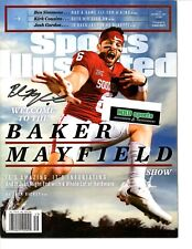 Baker Mayfield Reprinted auto signed Sports Illustrated photo HEISMAN & card