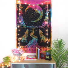 Wall Hanging Poster Tapestry Moon Decor Indian Art Home Bohemian Cotton Tapestry