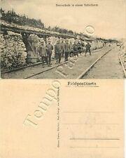 Prima guerra mondiale - Soldati tedeschi a presidio della ferrovia