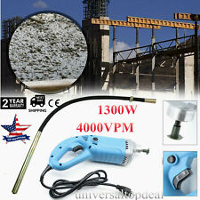 1.8Hp Electric Power Concrete Vibrator Tool Cement Finishing Bubble Remover1300W
