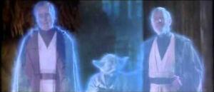 Star Wars POTF Power of the Force Jedi Spirits Anakin, Yoda, Obi-Wan-Hasbro 1998