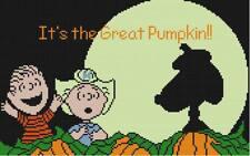 CROSS STITCH+ CRAFT PATTERN Peanuts Linus Snoopy Sally Halloween Great Pumpkin