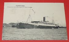 CPA 1925 PAQUEBOT AMBOISE MESSAGERIES MARITIMES