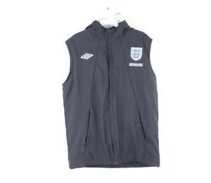 Umbro Mens Medium England National Team Nationwide Fleece Lined Soccer Vest Blue